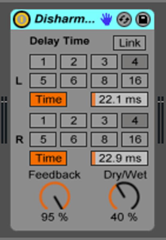Live9のエフェクトを遊ぶ。15『Disharmonics』