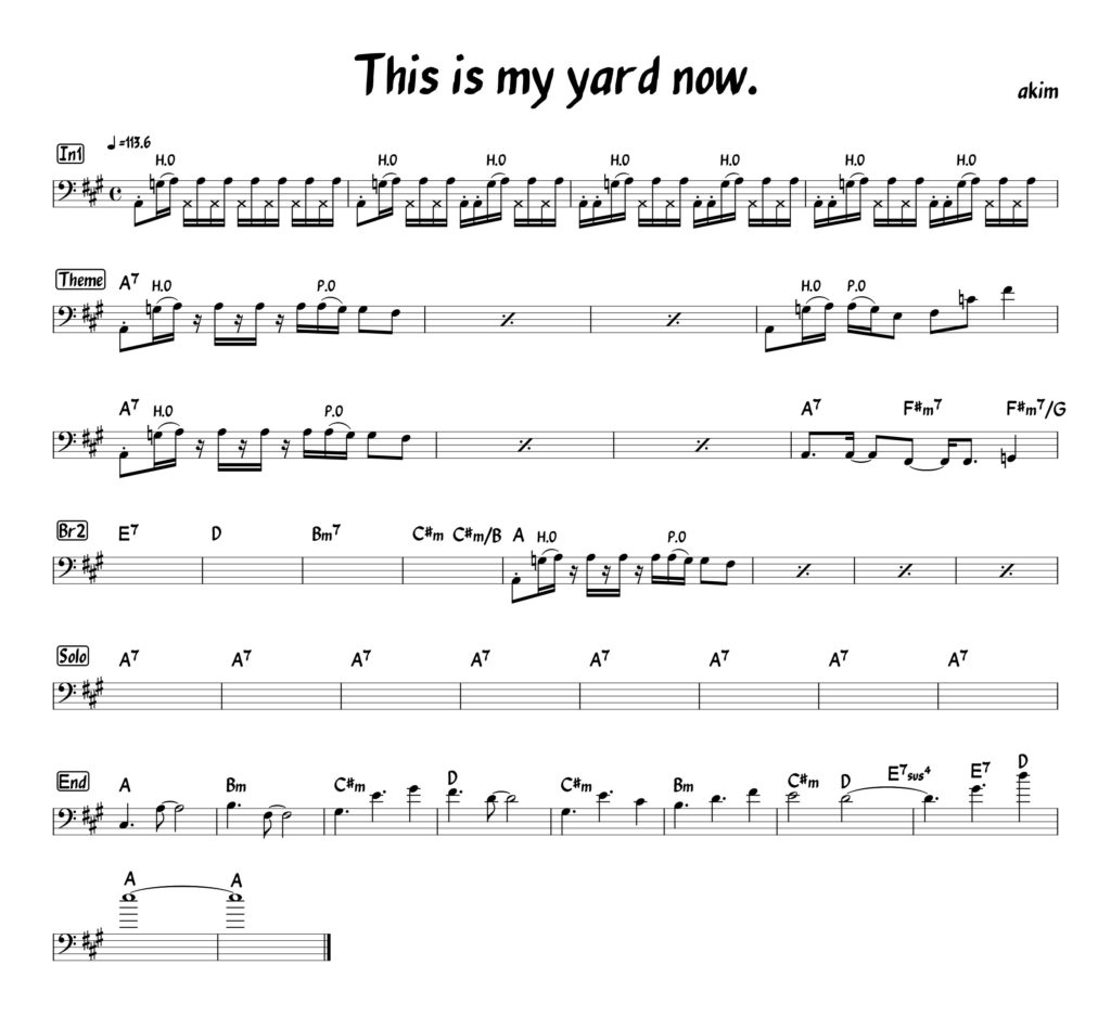 This is my yard now. /月一新曲#37